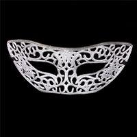 твердые полумаски оптовых-(100 шт./лот) новый блестели полые пластиковые сплошной цвет половина лица сексуальные женские маскарадные маски партии