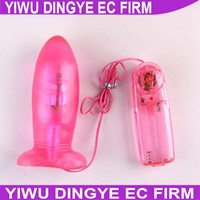 Wholesale Electronic Dildo - w1022 2014 New Electronic Anal Dildo Vibrator Butt Plug Adult Sex Toys for Ladies