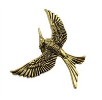 idealway jóias por atacado jóias Brooch Hunting Game Hungry Game Bronze Bird pin broches unisex como presente