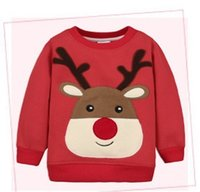 Wholesale Christmas Pullover Sweaters - Christmas Series Baby Clothing Sweaters Cloth With Soft Nap Boy And Girl Pullover Autumn and Winter New Styles