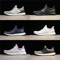 Wholesale White Cotton Table Runner - Adidas Ultra Boost 4.0 2018 Triple Black Triple White Primeknit Runner Fashion Ultraboost Running Sneaker Sports Shoes 36-45