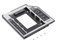 Wholesale Enclosure Dvd - HDD Enclosure 9.5mm Universal SATA 2nd HDD SSD Hard Drive Caddy for CD DVD-ROM Optical Bay YKS