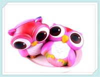 Wholesale Apple Broken - 2017hot sale Owl Squishies Kawaii Owl Squishy Toys Soft Slow RisingPhone Strap Squeeze Break Kid Toy Relieve Anxiety Christmas Gift Free DHL