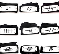 Wholesale kakashi toys for sale - Group buy PrettyBaby naruto headband leaf village logo Konoha Kakashi Akatsuki Members metal Headband Cosplay Costume Accessories