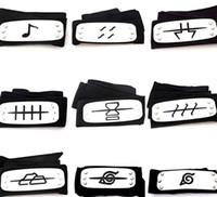 konoha cosplay naruto großhandel-PrettyBaby Naruto Stirnband Blatt Dorf Logo Konoha Kakashi Akatsuki Mitglieder Metall Stirnband Cosplay Kostümzubehör versandkostenfrei