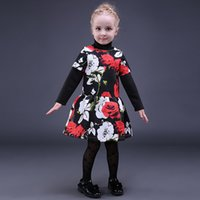 Wholesale pretty clothing for sale - Group buy Pettigirl Retail Fashion Girls Floral Dresses Short Sleeve Girl Holiday Dress Pretty Children Designer Clothes Girls GD80928