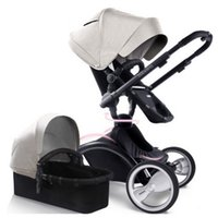 Wholesale Stroller Shock Absorbers - Landscape high strollers Baby stroller high Chair 3 In 1 folded four shock absorbers sit or lie strollers lightweight 360 degree