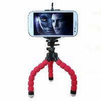 аксессуары для мобильных телефонов samsung оптовых-Wholesale-Car Phone Holder Flexible Octopus Tripod Bracket Selfie Stand Mount Monopod Styling Accessories For Mobile Phone  Camera