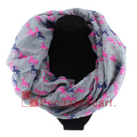 Wholesale winter scarf horse resale online - New Fashion Women s Winter Infinity Scarf Running Horse Print Loop Ring Scarf Long Polyester Shawl Colors Available SC0058