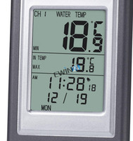 Bath Thermometers outdoor spa pools - Wireless Indoor and Outdoor Swimming Pool Spa Hot Tub Scoop Thermometer Water Temperature Guage with alarm clock function