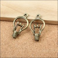 Nouveaux Hot Wholesale 20PCS / lots Retro Light Bulb Charms Antique Bronze Pendentif DIY Jewlery Findings 36x20MM