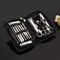 Wholesale best nail art set for sale - Group buy 15 In Manicure Set Professional Nail Clipper Finger Plier Nails Art Beauty Tools Scissors Knife Best Gift For You