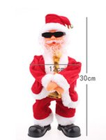 Wholesale Gangnam Style Gifts - Wholesale-Psy GANGNAM STYLE Riding Dance Christmas toy electric Xmas music dancing Santa Claus Xmas gift, More Than $100 TNT Free Shipping