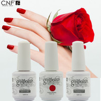 Wholesale Soak Off Uv Gel Cnf - Wholesale-140 sexy fashion colors, Free Shipping 3Pcs lot Top brand CNF Gel nail polish Soak Off UV led nail gel manicure 15ml gelpolish