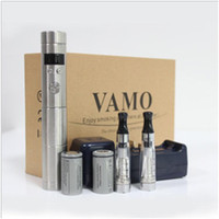 Wholesale Ego Cigarette Atomizer Lcd Voltage - Vamo V5 eGo Starter Kit LCD Display Variable Voltage Battery CE4 Atomizer Clearomizer for Electronic Cigarette E Cigarette Cig Kits Vamo Mod