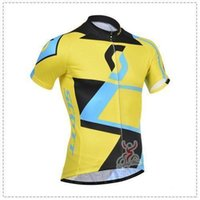 Wholesale Short Montain - factory price Team Scott Short Sleeve Cycling Jersey(Bib Pants)Set Men Montain Road Bicycle Wear Compression Short Bib Sets