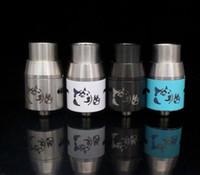 siyah bakır mod toptan satış-Doge V4 Atomizer Doge V4 Rebuildable RDA Doge Tankı Damlatıcı 4 renkler SS Siyah Bakır Pirinç fit Mekanik Mod 22mm