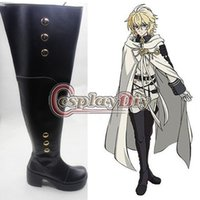 All'ingrosso-Seraph delle scarpe Fine Hyakuya Mikaela Cosplay Boots adulti Carnival Party unisex Custom Made D0626