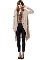 Wholesale Trench New Fashion - Women Long Trench Coat 2015 New Autumn Spring Fashion Brand Plus Size S-XL Windbreaker Overcoat Casacos Femininos 62