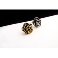 Wholesale Earring C - fashion rose flower girl earrings,vintage retro c*c earrings for women,top quality alloy stud earrings gold plated wholesale c* jewelry