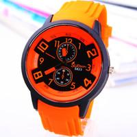 Wholesale Teenage Watches - Fashion Electronic watch children wristwatch Six eyes three pin teenage boy and girl watch gift business watch