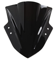 Wholesale Black Ninja - Motorcycle Double Bubble Windshield WindScreen For 2013-2014 Kawasaki Ninja 300 300R EX300 13 14 Black Color