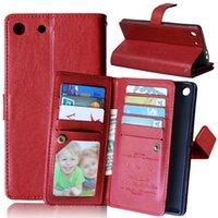 aqua brieftasche großhandel-Luxus Multifunktions Brieftasche Ledertasche 9 Kartensteckplätze Tasche Stand Foto Geldbörse Tasche für Sony Ericsson Xperia Z3 Z4 Z5 sowie C5 M5 M4 Aqua Haut