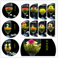 Wholesale 32pcs styles kinds Blooming flower tea leaves Technology Scented tea Art viewing Blossom Flower Process Tea leaves Hot sale
