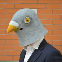 Wholesale Theater Latex Masks - 2015 Latest Costume Theater Prop Novelty Latex Pigeon Head Masks, Cute Animal Mask Cosplay Mask for Halloween Free Shipping