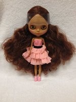 Wholesale Nude Dolls - Wholesale-Free shipping Nude dolls(brown curly hair,black skin )