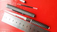Wholesale Folding Pens - (6pcs lot) Letter opener pen knife tools outdoor pipe cutter, pen knife self-defense security Settings microtech knives karambit knives