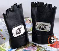Wholesale Konoha Logo - Wholesale-Hot Anime Naruto Kakashi Hatake Leather Gloves Cosplay Best Gift Konoha Ninja Logo Icha Icha Handsome Symbol Kakshi Itachi Gift