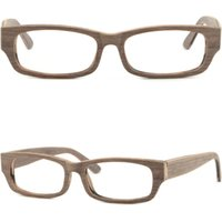 Imitación De Marco De Madera Gafas Baratos-Rectangular Men's Women Plastic Frames Prescription RX Glasses Imitation Wood