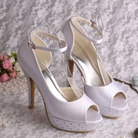Wholesale Yellow Bridesmaid Shoes Wedding - Womens Platform Shoes Crystal Wedding Bridesmaid Dress Studded Heels Free Shipping