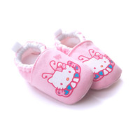 Wholesale Cheapest Baby Socks - 2016 Pink Kitty Baby Girl Shoes Cotton 0-18Month Soft Anti-Drop Bebe Socks Top Quality baby shoe Cheapest Toddler First Walkers Casual Shoe