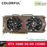 Wholesale Nvidia Wholesale - Wholesale Colorful NVIDIA GeForce GTX 1060 GPU 3GB GDDR5 192bit PCI-E X16 3.0 VR Ready Gaming Video cards Graphics Card 1708MHz for CS GO