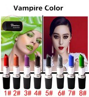 Wholesale vampire makeup for sale - Group buy Vampire Color Lipstick Waterproof lipstick stand holder Top Quality Matte Lipstick Makeup Luster Lipstick Frost Lipstick Matte Lipstick