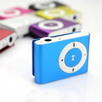 Wholesale Mp3 Player Without Earphone - Mini Clip MP3 Player Wholesale Cheap Sport Style Metal MP3 Players without Screen with Retail Box Earphone USB Cable - No Micro TF Cards