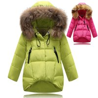Wholesale Girl S Long Coat Down - Fashion Girl Winter down Jackets Coats warm baby girl 100% thick duck Down Kids jacket Children Outerwears for cold winter