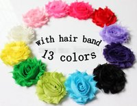 """Wholesale Cheap Hair Bands Flowers - 10%OFF 2015 hot sale cheap 2.5"""" 30pcs 13 colors baby girl hair flowers with bands multi frayed shabby flowers baby headband hair accessorie"""