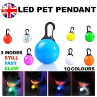 Wholesale Dog Collar Led Charm - LED Safety Dog Cat Night Light Flashing Colour Buckle Collar Pet Luminous Bright