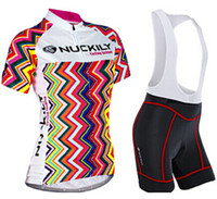 Wholesale Nuckily Cycling - Wholesale-2015 Nuckily rock cycling Summer women short sleeve cycling jersey and bib shorts   bicycle wear for female ropa ciclismo mujer