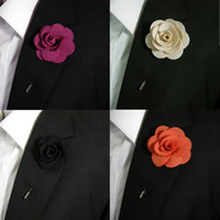 Boutonniere Silk Blend Fashion Mens bavero Fiori Handmade Stick Pin Wedding