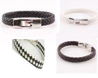 Wholesale Pu Leather Braided Bracelet - Unisex Handmade Braided Woven PU Leather Bracelet Bangle Jewelry For Women Men Wholesale ZB67