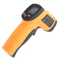 termómetros digitales infrarrojos al por mayor-LCD Termómetro sin contacto del termómetro digital IR Láser Infrarrojo temporales Pistola envío libre, dandys