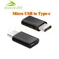 conectores macho micro usb al por mayor-Salidas de fábrica USB C 3.1 Tipo-C Macho a Micro USB Hembra Mini convertidor Adaptador Tipo C Conector de cargador de sincronización de datos para Note7 nueva MacBook