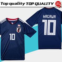 ingrosso camicie honda-2018 coppa del mondo Giappone maglia da calcio 2018 Giappone casa calcio blu maglia # 10 KAGAWA # 9 OKAZAKI # 4 HONDA uniforme da calcio 2018 coppa del mondo