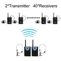 Wholesale Digital Tour Guide - TP-WIRELESS 2.4GHz Digital Wireless Tour Guide System Wireless Translation System for Train Visit Tourism 2 transmitter and 40 receivers