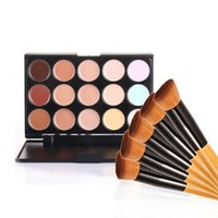 Wholesale Make Up Palette Camouflage Concealer - Professional Cosmetic Salon Party 15 Colors Camouflage Palette Face Cream Makeup Concealer Palette Make up Set Tools With Brush