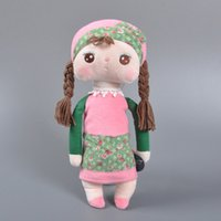 Wholesale Tiramisu Cute - Retail 30CM Metoo plush toys sweet cute Angela Tiramisu Rabbit stuffed dolls toy Cartoon Kawaii kids baby Christmas Birthday gifts 201511HX